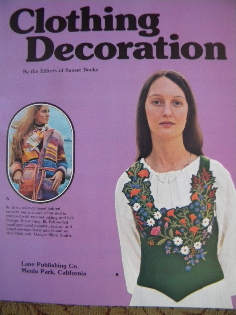 Vintage book clothing decoration embroidery