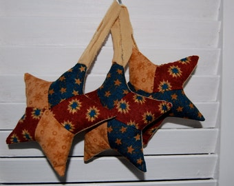 SALE, Folk Art Star Decorations, Bowl Fillers