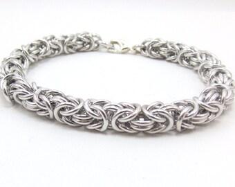 Timeless Silver Byzantine Chainmaille Bracelet
