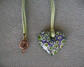 Lovely Lampwork Heart Pendant