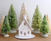 Putz House Ornament DIY Kit Christmas Decoration Chalet Glitter House Paper Craft Kit