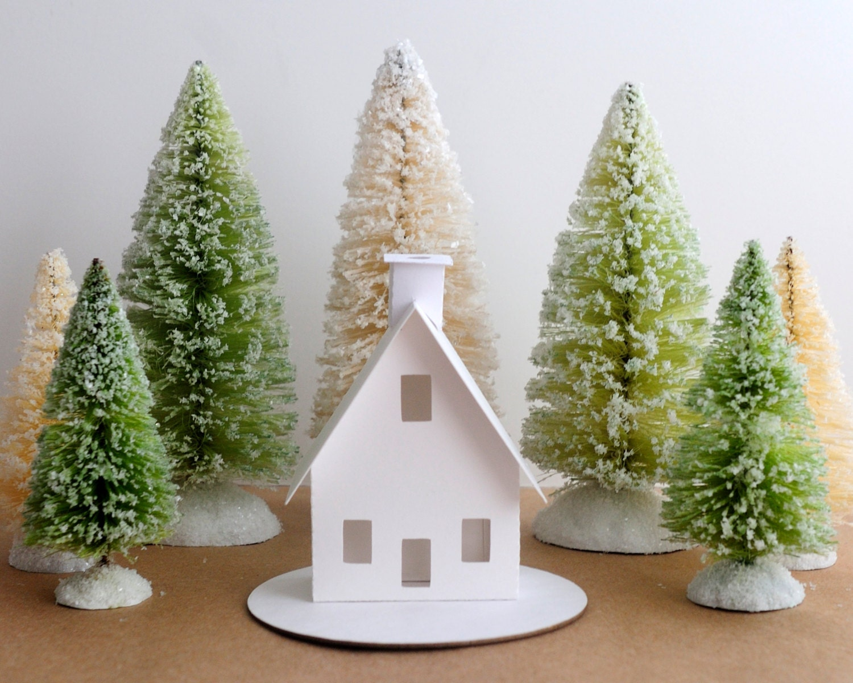 Putz house ornament diy kit christmas decoration chalet