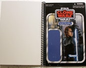 Clone Wars Anakin Skywalker Recycled Vintage Style Star Wars Notebook