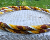 NEW: Sunflower GLOW hoop - GLOWS in the dark - Collapsible or Standard - Any Size Hoola Hoop