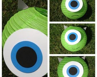 Monsters Inc. Mike Wazowski and Sulley Inspired Paper Lantern Decorations
