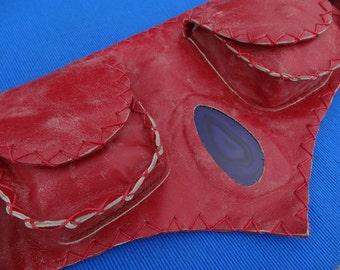 Pouch Leather Belt - hip bag - hip pack - hip belt -belt bag- festival belt - fanny pack