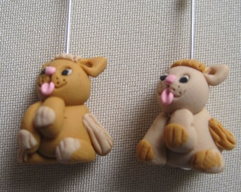 Knitting Stitch Markers:  4 Little Sitting Kitties