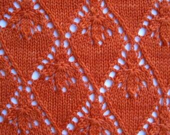 Knit Shawl Pattern:  Mandarin Lace Shawl Knitting Pattern
