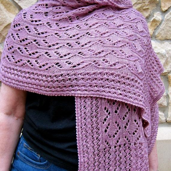 Snowflake Lace Knitting Pattern : Knit Wrap Pattern: Snowflake Lace Wrap Knitting Pattern