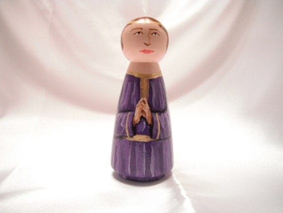 Children's Nativity Play set Wooden Angel Doll - made to order