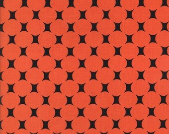 ATOMIC DOT in Red Orange cx5452 - Mid Century Modern - Michael Miller Fabric - 1 Yard