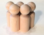 Wooden Peg Dolls - 100 Dads - Waldorf - Paint It Yourself Wood People
