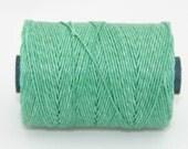 Waxed Irish Linen Thread Sage Green 4 Ply
