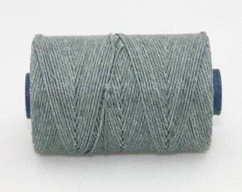 Waxed Irish Linen Thread Slate Grey 7 Ply Waxed Thread