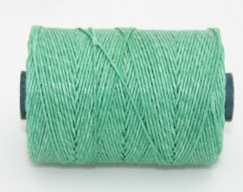 Waxed Irish Linen Thread Sage Green 4 Ply