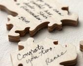 30 pc Wedding Guestbook Puzzle, custom guestbook alternative, WOOD puzzle guest book, Bella Puzzles™, rustic wedding, boho wedding