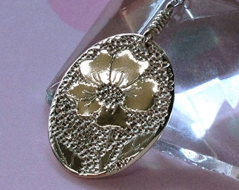 Wild Rose Sterling Silver Necklace