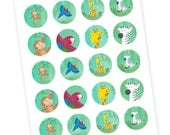 20 Safari Party Favors - Stickers