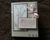 Definition of Love Wedding Card with Ribbon