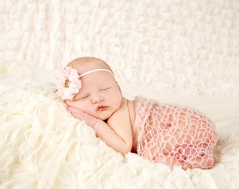 Baby headband, newborn headband, adult headband, child headband and photography prop The single sprinkled- Chiffon RUFFLE  headband