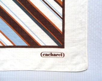 Scarf by  Blue and Brown Stripes Vintage 70s