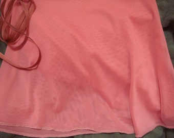 "Ballet Wrap Skirt, 13"" Adult, Coral Nylon"