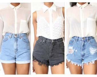 Limited Time Only 3 for 1 Get 3 Vintage High Waist Shorts