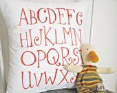 ABC Pillow Slip, Insert Included, Nursery Decor, Keepsake Pillow, Baby Shower Gift