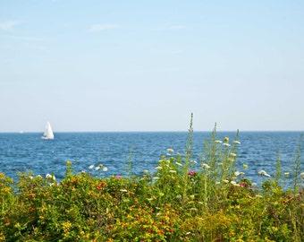 Sailboat on the Atlantic. Magnolia Village, MA