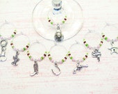 RESERVED LISTING Cowgirl Wine Charms - Silver Western Cowboy Wine Glass Charms