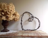 Barbed Wire Heart Wreath / Rustic Farmhouse Chic / Industrial Decor / Wedding Decor / Valentine's Day