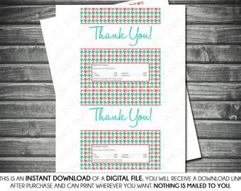 Instant Download Candy Bar Wrappers - Girl, Herringbone, Coral, Teal, Gray, Printable, Digital
