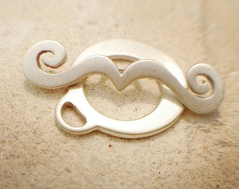 Sterling Toggle Clasp- Scroll