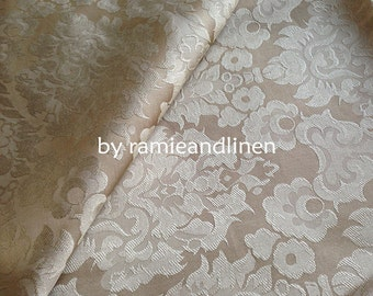 "silk fabric,100% silk Victorian damask brocade fabric, Fat Quarter, 18"" by 22"""