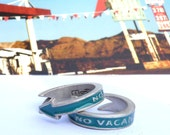 Motel No Vacancy Sign Ring Turquoise friendship/wedding ring