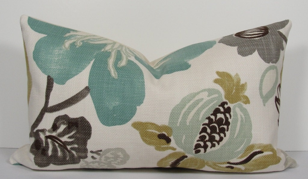 Turquoise Teal Decorative Pillow Cover Kravet Designer