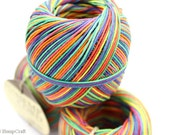Hemp Cord, Rainbow 400ft Hemp Twine Ball, Colored Twine, Craft String