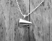 Cheerleading Necklace, Cheer Necklace, Megaphone Necklace, Cheerleading Jewelry, Cheerleader Necklace, Sterling Silver Jewelry