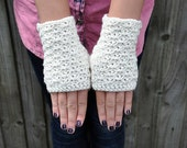 PATTERN ONLY (PDF File) - Chunky fingerless mittens, accessories, fingerless gloves, winter, how to make