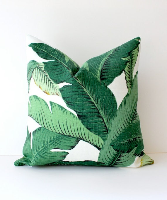 The Modern Pillow : Modern Tropical Green Designer Pillow Cover Accent Cushion