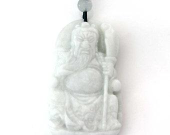 One Bead Talisman Han Dynasty Guan-Gong Guanyu Natural Stone Amulet Pendant 47mm x 28mm  TH277
