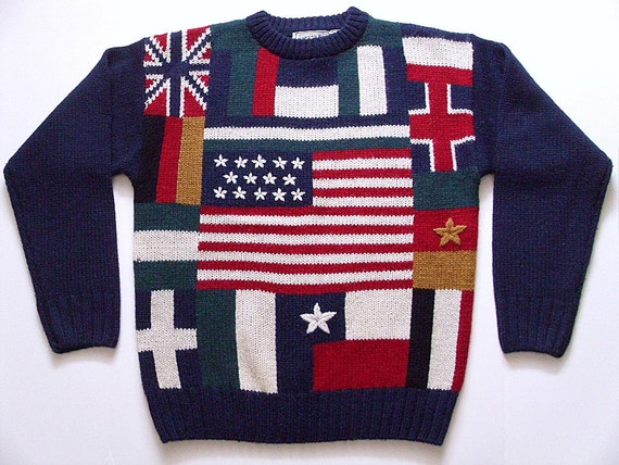 Mens Vintage Sweater - American Powerhouse