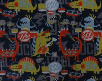 Dino Rock - FLANNEL - Fabric - 40 inches