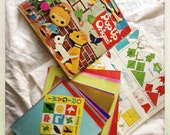 Vintage Origami Pop-Up Book and Paper