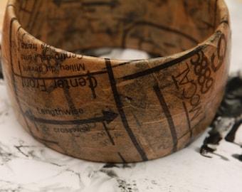 Sewing pattern bracelet bangle