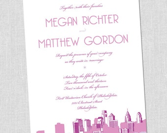 Philadelphia Love Wedding Invitation Set - SAMPLE SET