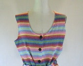 Playful Rainbow Striped Summer Shirt Top