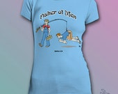 CLEARANCE - Funny Christian Scripture tshirt - Fisher of Men
