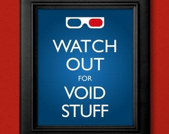 10th Doctor Inspired 3D Glasses Poster