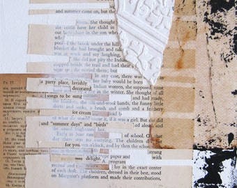 paper collage on canvas with found poetry.  for you.